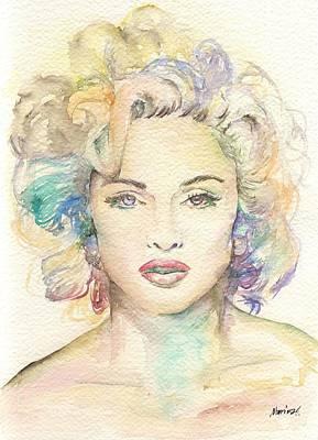 Michael Jackson Oil Painting - Madonna by Marina Sotiriou