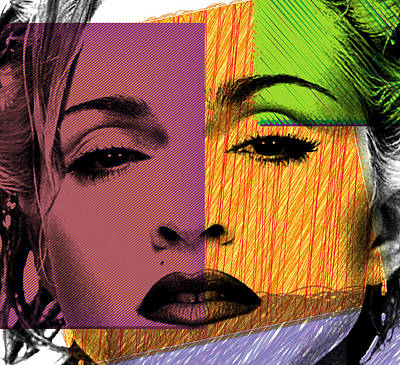 Human Beings Digital Art - Madonna  by Mark Ashkenazi