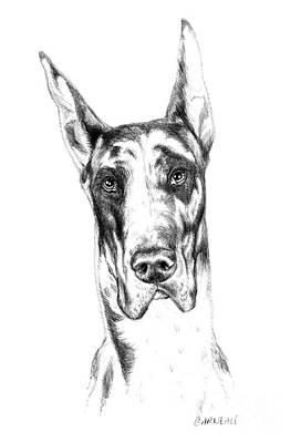 Big Dog Drawing - Maggie Mae by Catherine Garneau