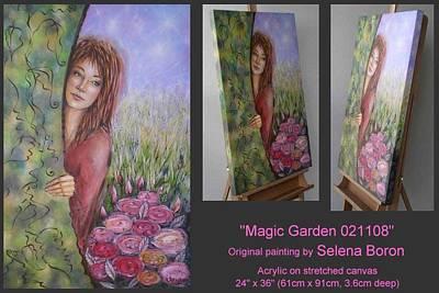Art Print featuring the painting Magic Garden 021108 by Selena Boron