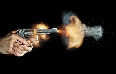 Magnum Revolver Shot Art Print by Herra Kuulapaa � Precires