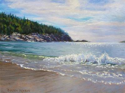 Coastal Maine Painting - Maine Morning by Bonnie Mason