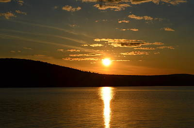 Water Droplets Sharon Johnstone - Maine sunset by James Petersen