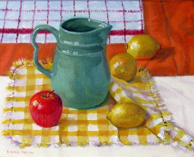 Old Pitcher Painting - Make Lemonade by Bonnie Mason