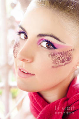 Fuschia Photograph - Makeup by Jorgo Photography - Wall Art Gallery
