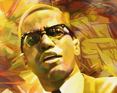 Painting - Malcolm X by Carey Muhammad