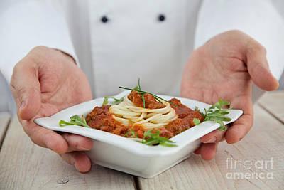 Mythja Painting - Male Chef In Restaurant by Mythja  Photography