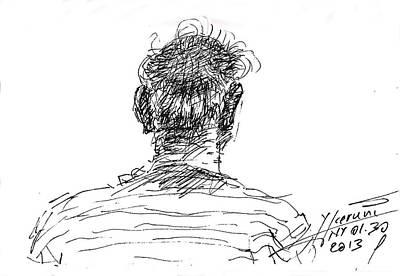 Man Head Art Print by Ylli Haruni