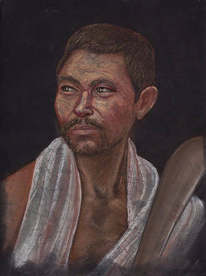 Man Of The Kochh Mandai Tribe Agricultural Original by Prakash Leuva