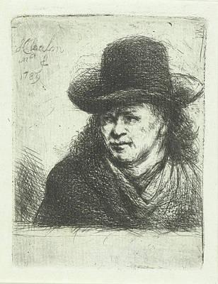 Human Head Drawing - Man With Hat, Jan Chalon by Jan Chalon