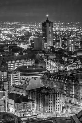 Photograph - Manchester City Nightscape by Wayne Molyneux
