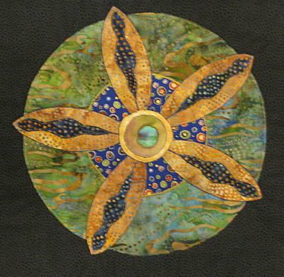 Lynda Boardman Art Tapestry - Textile - Mandala No 6 Wheel Of Fortune by Lynda K Boardman
