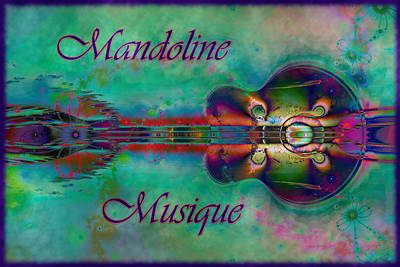 Digital Art - Mandoline Musique by Kiki Art
