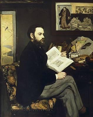 Manet, �douard 1832-1883. Portrait Art Print