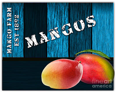 Mango Farm Sign Art Print by Marvin Blaine