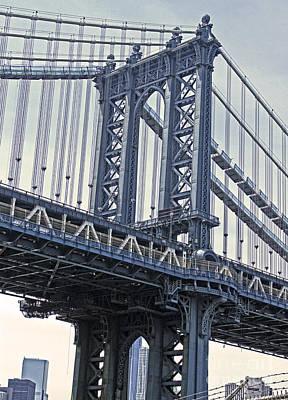Photograph - Manhattan Bridge Overpass by Gregory Dyer