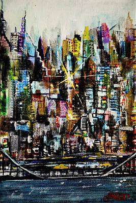 Manhattan Morning Art Print