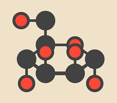 Mannose Sugar Molecule Art Print by Molekuul