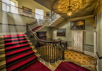 Mansion Stairway Art Print by Adrian Evans