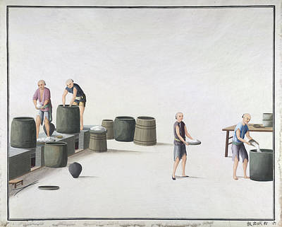 Illustration Technique Photograph - Manufacture Of White Lead In China by British Library