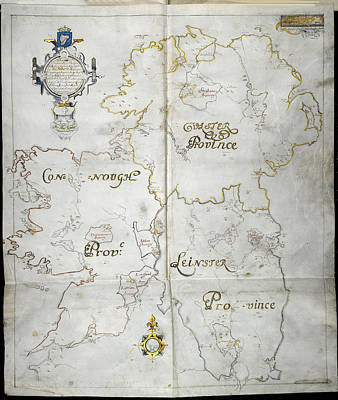 Republic Of Ireland Photograph - Map Of Ireland by British Library