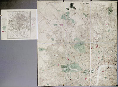 Hyde Park Photograph - Map Of London by British Library
