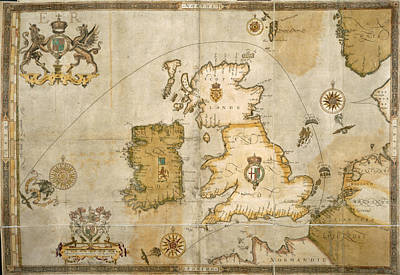 Map Of The British Isles Art Print