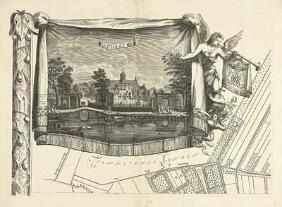 Stein Drawing - Map Of The Heerlijkheid Maarsseveen, The Netherlands by Philibert Bouttats