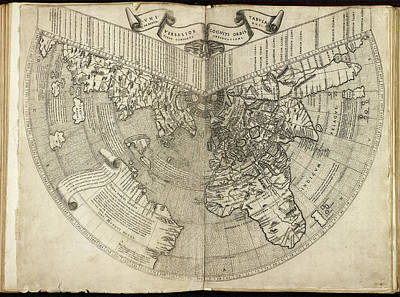 Cartography Photograph - Map Of The World by British Library