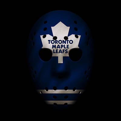 Photograph - Maple Leafs Jersey Mask by Joe Hamilton