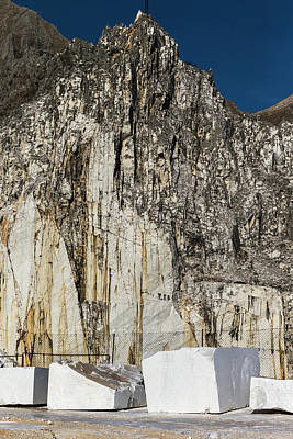 Carrara Marble Wall Art - Photograph - Marble Mines Above Town Of Carrara by Ron Koeberer