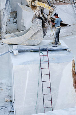 Carrara Marble Wall Art - Photograph - Marble Quarry by Mauro Fermariello/science Photo Library