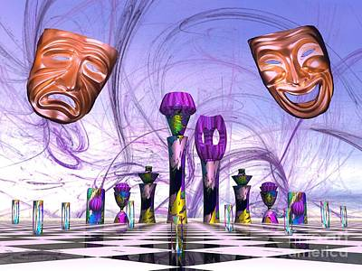 Digital Art - Mardi Gras Chess by Jacqueline Lloyd