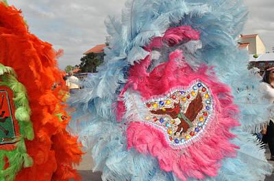 Photograph - Mardi Gras Indians by Diane Lent