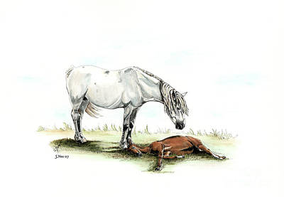 Painting - Mare And Foal by Shari Nees