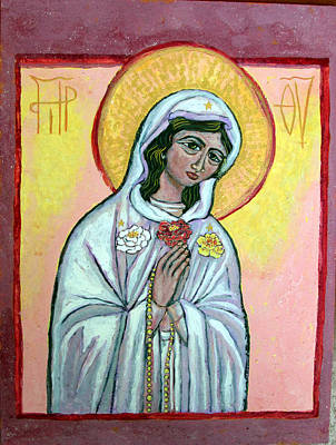 Russian Icon Painting - Maria Rosa Mistica by Sarah Hornsby