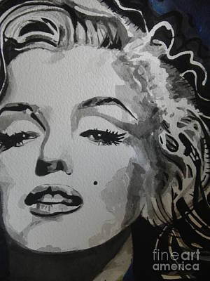 Chrisann Painting - Marilyn Monroe 01 by Chrisann Ellis