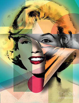 Modern Digital Art Digital Art Digital Art - Marilyn Monroe by Mark Ashkenazi