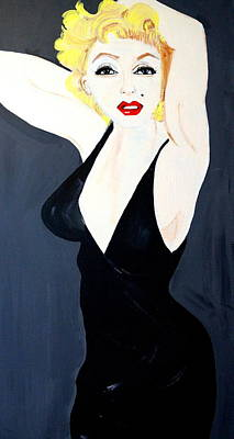 Marilyn   Monroe Art Print by Nora Shepley