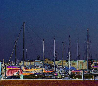 San Leandro Digital Art - Marina by Beau Brady