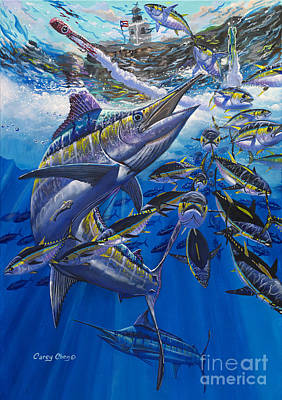 Marlin El Morro Art Print by Carey Chen