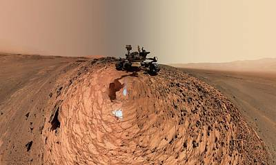 Mars Curiosity Rover Self-portrait Art Print by Nasa/jpl-caltech/msss
