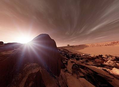 Outer Space Photograph - Mars Exploration by Detlev Van Ravenswaay