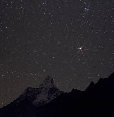 Mars Rising Over The Himalayas Art Print