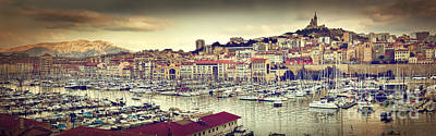 Photograph - Marseille France Panorama Famous Harbour by Michal Bednarek