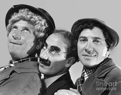 Marx Brothers - Groucho Harpo And Chico Marx Art Print by MMG Archive Prints