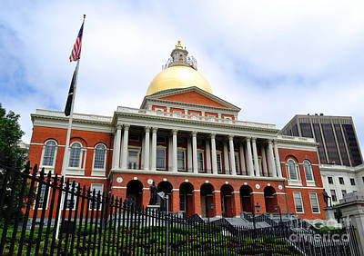 Photograph - Massachusetts State House Boston Ma by Staci Bigelow