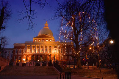 Photograph - Massachusetts State House by Joann Vitali