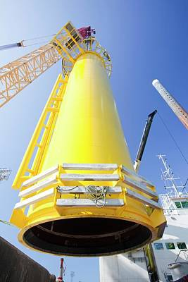 Massive Crane Lifting A Transition Piece Art Print