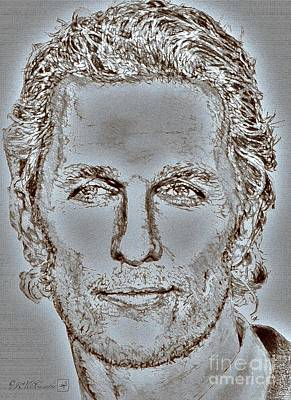 Digital Art - Matthew Mcconaughey In 2011 by J McCombie
